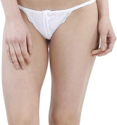 JKFs Women's Thong White Panty