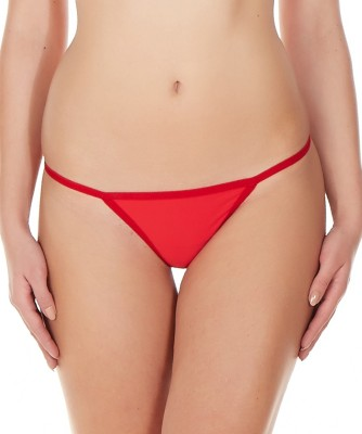 La Intimo Women's G-string Red Panty(Pack of 1) at flipkart