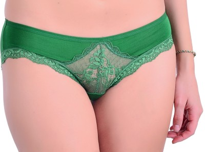 Naughtee Women's Hipster, Brief Green Panty