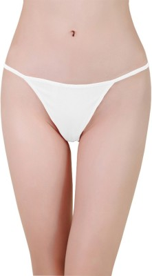 Aws Fashion Women's G-string White Panty