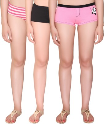 Vivity Women's Boy Short Multicolor Panty(Pack of 3) at flipkart