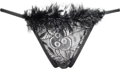 Fenleisi Valentine Lingerie Women's Thong Black Panty