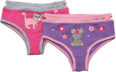 NeedyBee Kitty and Mouse Ez Undeez Cotton Kids Toddlers Girls Panties (1 Pair Pack) Girls Brief Panty