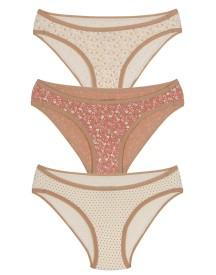 Amante Women's Bikini Brown Panty(Pack of 3)