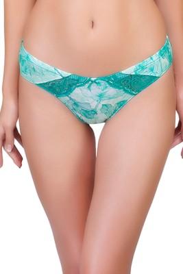 Inner Sense Womens Bikini Green Panty(Pack of 1)