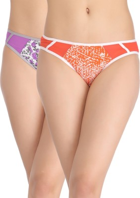 Clovia Women's Bikini Multicolor Panty(Pack of 2) at flipkart