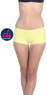 Deep Under Women's Boy Short Yellow Panty
