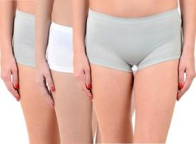 Lienz Women's Boy Short Grey, Pink, White Panty(Pack of 3)