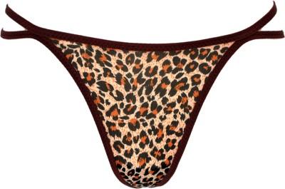 Glus Cotton Feel Free Womens G-string Brown Panty