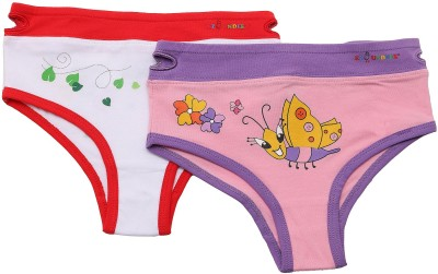 NeedyBee Ladybug and Butterfly Ez Undeez Cotton Kids Toddlers Girls Underwear (1 Pair Pack) Girls Brief Panty