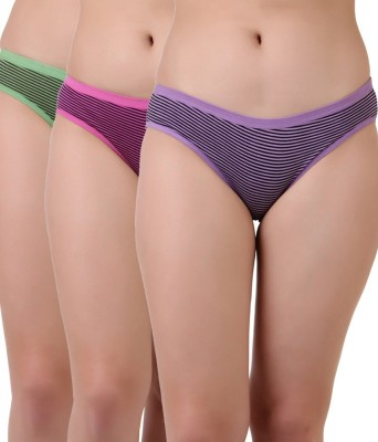 Dori & Bella Women's Bikini Pink, Green, Purple Panty