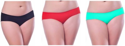 Our Rituals Women's Hipster Black, Red, Light Green Panty