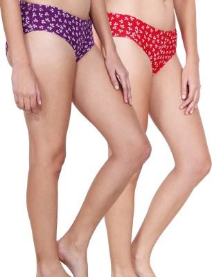 Inner Secrets Women's Bikini Multicolor Panty(Pack of 2) at flipkart