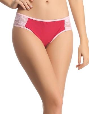 Clovia Women's Bikini Red Panty