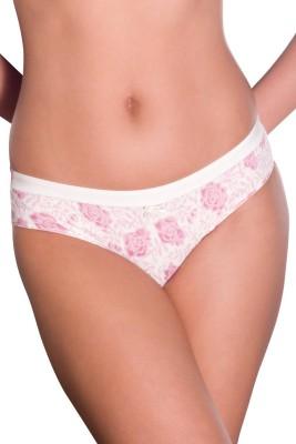 Amante Women's Bikini Pink, White Panty