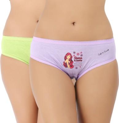 Vaishna Women's Brief Green, Purple Panty