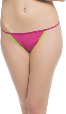 Clovia Chic Polyamide In Reddish Pink Women's Bikini Red Panty