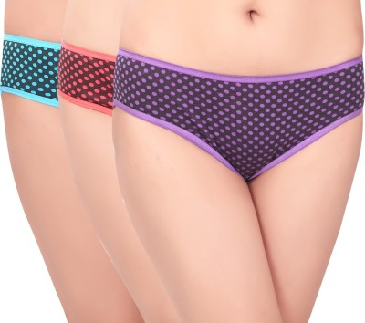 Curves n Shapes Women's Bikini Multicolor Panty