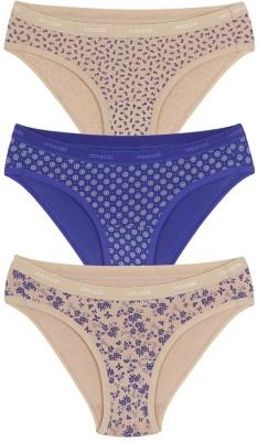 Amante Women's Bikini Beige, Purple Panty