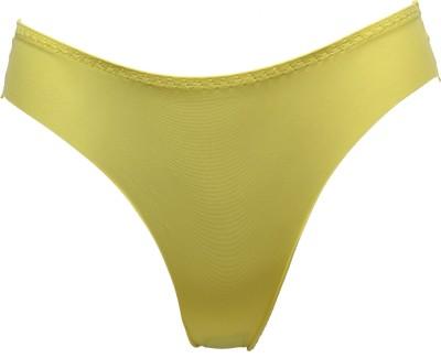 Glus Funky Neon Womens Thong Yellow Panty