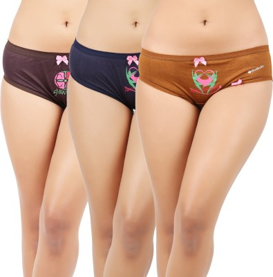 Avanthi Mrdbubr Women's Brief Maroon, Brown, Dark Blue Panty