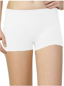 Sizzlacious Women's Boy Short White Panty(Pack of 1)