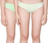 Vivity Casual Women's Brief Green Panty ...