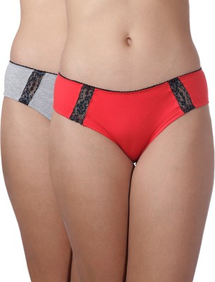Heart 2 Heart Women's Hipster Grey, Red Panty