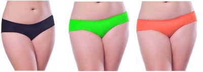 Our Rituals Women's Hipster Black, Green, Orange Panty