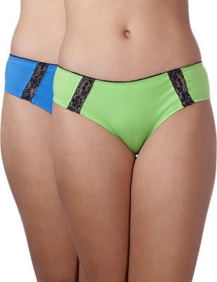 Heart 2 Heart Women's Hipster Green, Dark Blue Panty