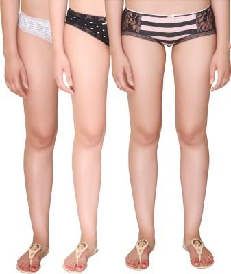 Vivity Women's Hipster Multicolor Panty(Pack of 3) at flipkart