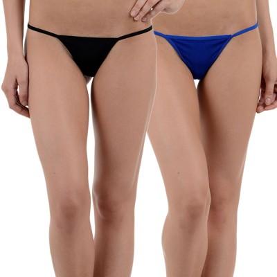 Aws Fashion Women's G-string Black, Blue Panty