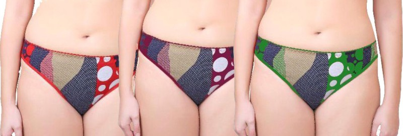 Yana Women's Bikini, Brief, Hipster, Periods Multicolor Panty(Pack of 3)