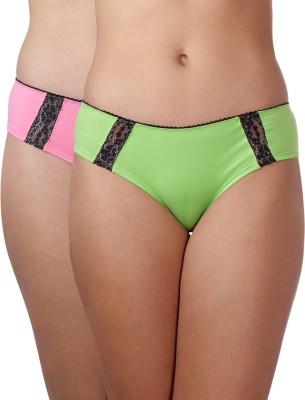 Heart 2 Heart Women's Hipster Green, Pink Panty
