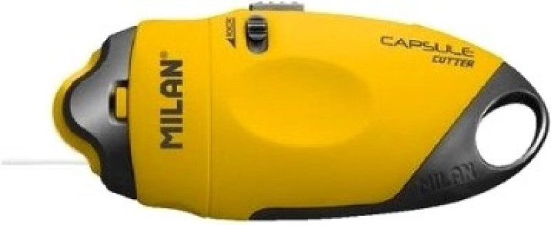 Milan Capsule Rubber Grip Hand-held Paper Cutter(Set Of 1, Yellow)