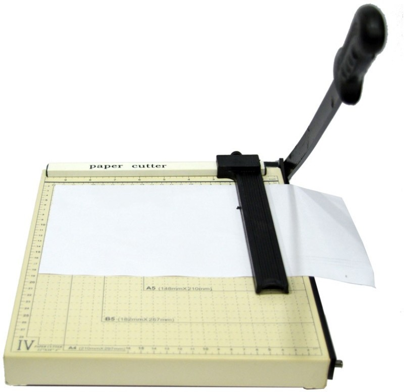 cyua A-4 Plastic Grip Hand-held Paper Cutter(Set Of 1, white)