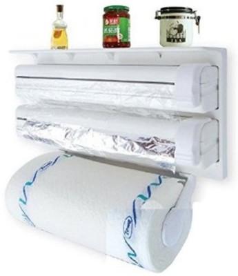 Magnusdeal 3 in 1 Kitchen Triple Paper Dispenser & Holder Paper/ Foil/ Cling Wrap 221 Paper Dispenser