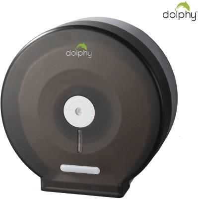 Dolphy Black Anti-Dust Jumbo Roll Toilet Paper Dispenser