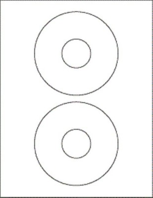 R R Enterprises 2- CD Sticker Self Adhesive Paper Label