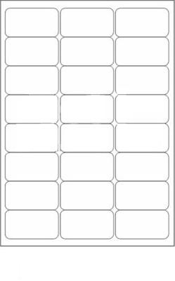 Novajet 24 A4 Size Sticker Paper Self-adhesive Paper Label(White)