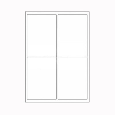 Desmat A4ST4-100S Self-adhesive Paper Label(White)