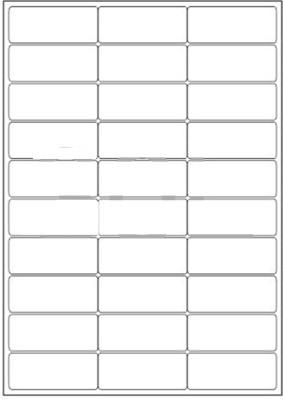 Novajet 30 A4 Size Sticker Paper Self-adhesive Paper Label(White)