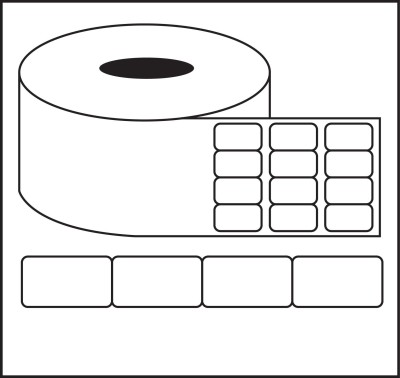Nplabel Barcode Label 25X25MM Self-adhesive Paper Label