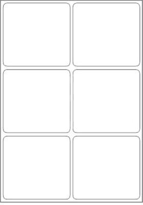 Novajet 6 A4 Size Sticker Paper Self-adhesive Paper Label(White)