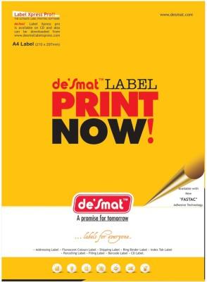 Desmat A4st12 - 100s,Labels,A4 Sheet Self-Adhesive Paper Label(White)