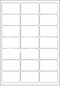 Novajet 21 A4 Size Sticker Paper Self-adhesive Paper Label(White)