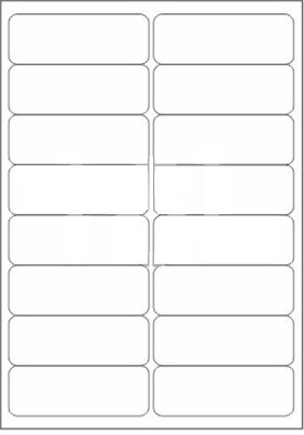 Novajet 16 A4 Size Sticker Paper Self-adhesive Paper Label(White)