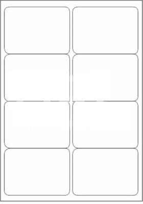 Novajet 8 A4 Size Sticker Paper Self-adhesive Paper Label