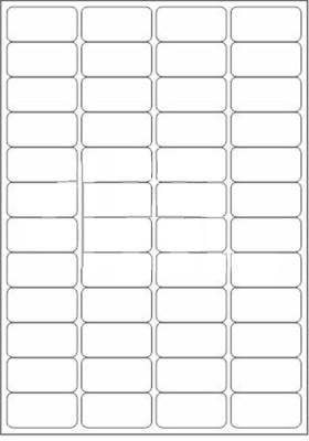 Novajet 48 A4 Size Sticker Paper Self-adhesive Paper Label(White)