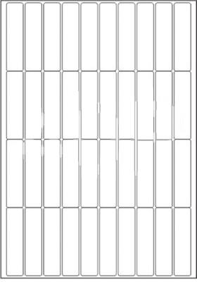 Novajet 40 A4 Size Sticker Paper Self-adhesive Paper Label(White)